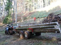 Lesné vozík za štvorkolku