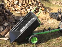 Sklápacie vozík za štvorkolku