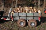Vyvážačka JPJ Forest pre malotraktor