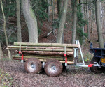 Vozík za štvorkolku na drevo