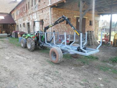 Vyvážačka s rukou za malotraktor