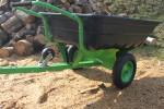 Sklopný vozík za štvorkolku