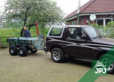 Multifunkčný ATV príves Profi Robotník a terénny automobil
