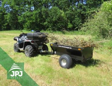 Sklopný ATV vozík Farmár s pracovnou štvorkolkou
