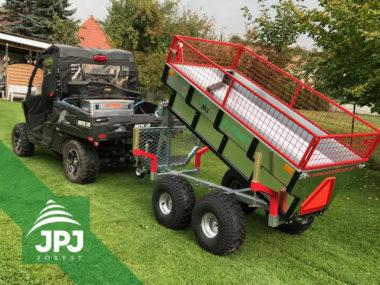 Terénne UTV vozidlo a multifunkčné ATV vyvážečka Profi Robotník