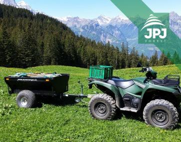 Vozík za štvorkolku Farmár dodaný do Švajčiarska